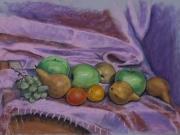 frutta su fouland rosa