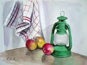 Lanterna verde con mele