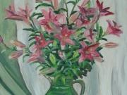 Vaso di fiori fucsia
