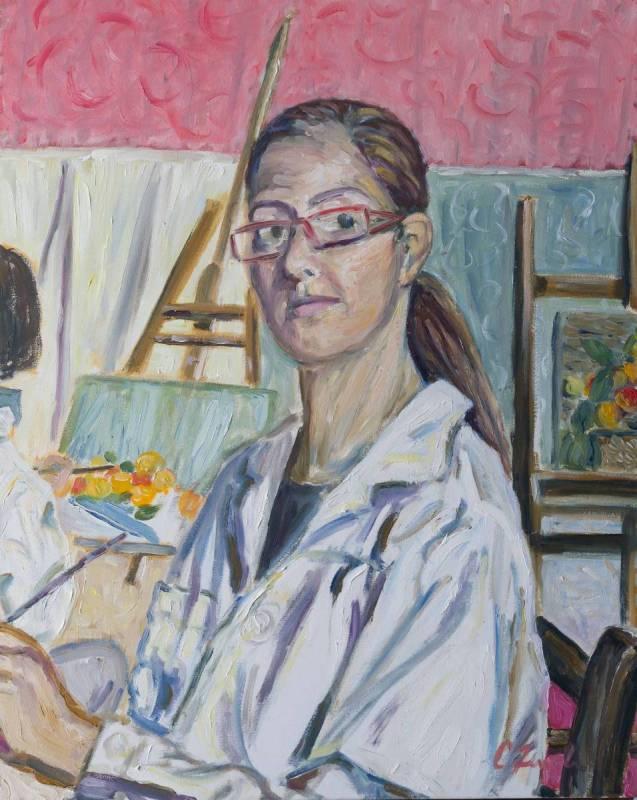"""""""Autoritratto"""" - 2012 - Olio su tela 70 x 50"""