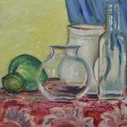 vetri, porcellana e frutta
