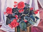 fiori in vaso di rame