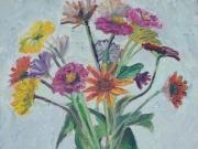 Vaso di fiori colorati